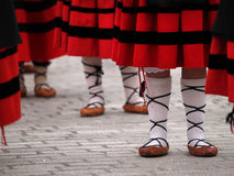 Basque folclorical dance dress Stock Photo
