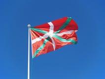 basque ikurri för landsflagga Royaltyfria Bilder