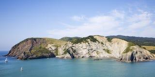 basque kustlandsdetalj Arkivbild