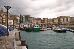 basque landshamn San Sebastian Fotografering för Bildbyråer