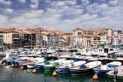 basque landslekeitio port Royaltyfri Fotografi