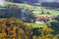basque landssida Arkivfoto