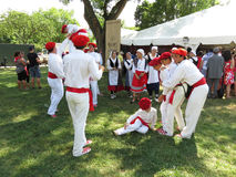 Basque Men and Women at the Festival Royalty Free Stock Photos