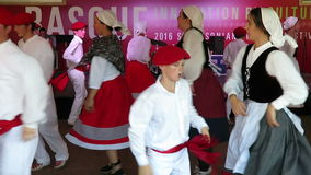 Basque Music Culture and Dancing stock video footage