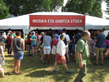 Basque Music Tent Royalty Free Stock Photography