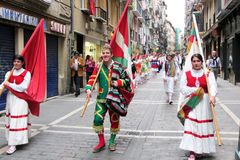 Basque parade Stock Photo