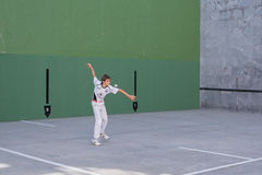 Basque pelota competition Stock Photography