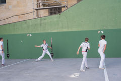 Basque pelota competition Royalty Free Stock Image