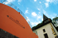 Basque pelota court (fronton) Royalty Free Stock Image
