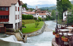 Basque town in the French Pyrenees Royalty Free Stock Image