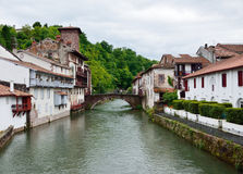 Basque town in the French Pyrenees Stock Photos