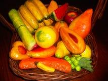 Basquet de la fruta fotos de archivo libres de regalías