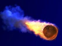 Basquetebol ardente ilustração stock