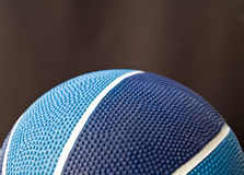 Basquetebol azul Foto de Stock Royalty Free