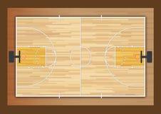 Basquetebol court Fotografia de Stock