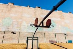 Basquetebol court Fotos de Stock