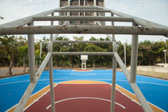 Basquetebol court Foto de Stock Royalty Free