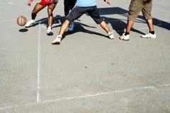 Basquetebol da rua - ação do basquetebol Imagens de Stock