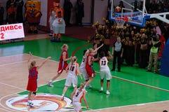 Basquetebol das mulheres do russo Fotografia de Stock Royalty Free