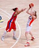 Basquetebol das mulheres do russo Imagens de Stock Royalty Free