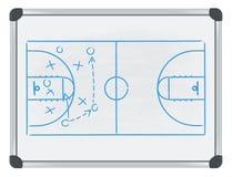 Basquetebol de Whiteboard Fotografia de Stock Royalty Free