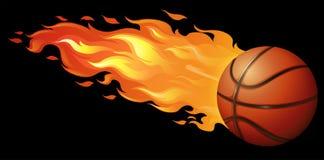 Basquetebol do fogo ilustração do vetor