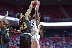 2014 basquetebol do NCAA - ação do jogo do templo de Towson @ Imagens de Stock Royalty Free