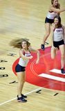 2014 basquetebol do NCAA - elogio/dança Foto de Stock Royalty Free