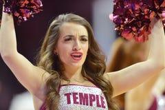 2014 basquetebol do NCAA - Kansas no templo Foto de Stock