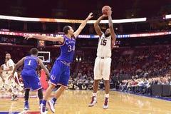 2014 basquetebol do NCAA - Kansas no templo Fotografia de Stock Royalty Free