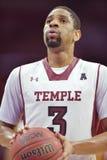 2014 basquetebol do NCAA - Kansas no templo Foto de Stock Royalty Free