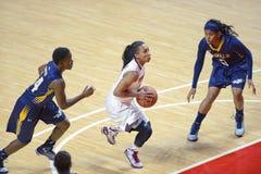 2014 basquetebol do NCAA - o basquetebol das mulheres Fotos de Stock