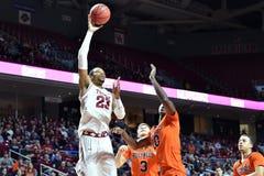 2015 basquetebol do NCAA - templo-Bucknell do Rd da LÊNDEA primeiro Imagens de Stock Royalty Free