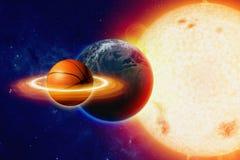 Basquetebol do planeta Imagens de Stock