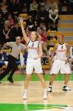 Basquetebol Euroleague das mulheres Foto de Stock Royalty Free