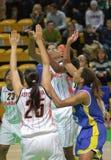 Basquetebol Euroleague das mulheres Fotografia de Stock Royalty Free