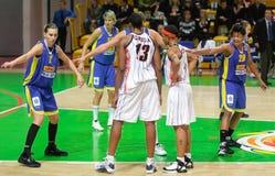 Basquetebol Euroleague das mulheres Fotografia de Stock