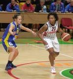 Basquetebol Euroleague das mulheres Fotos de Stock Royalty Free