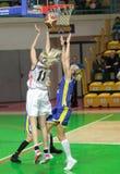 Basquetebol Euroleague das mulheres Imagem de Stock Royalty Free