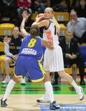 Basquetebol Euroleague das mulheres Imagens de Stock