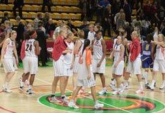 Basquetebol Euroleague das mulheres Foto de Stock