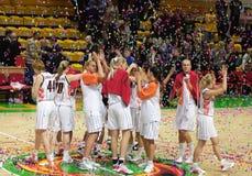 Basquetebol Euroleague das mulheres Fotos de Stock