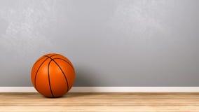 Basquetebol na sala com Copyspace Imagens de Stock Royalty Free