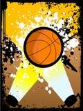 Basquetebol no grunge Fotografia de Stock