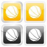 Basquetebol quadrado do ícone ilustração royalty free
