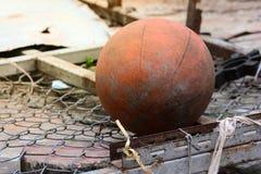 Basquetebol velho Fotografia de Stock