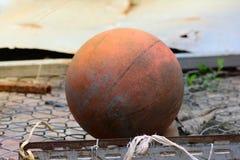 Basquetebol velho Fotos de Stock Royalty Free