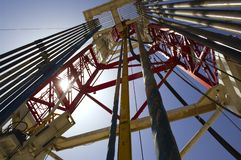 Basra Iraq West Qurna 2 oil derrick Royalty Free Stock Images