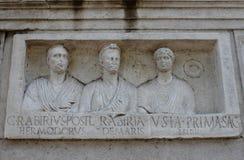 Basrelief στον τρόπο Appian Στοκ Εικόνες
