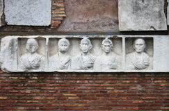 Basrelief στον τρόπο Appian Στοκ φωτογραφία με δικαίωμα ελεύθερης χρήσης